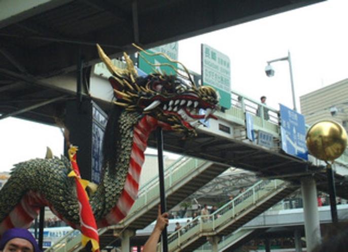 長崎くんち・人気の龍踊り