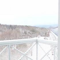 客室からの景色(冬)