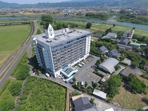 リゾートマンション風の造りのホテル