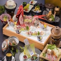 ハイグレードのコース料理金目鯛のしゃぶしゃぶをお楽しみください