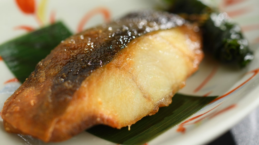 【朝食】 一例 焼き魚