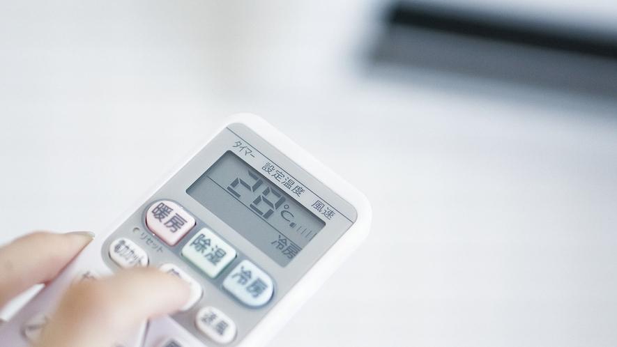 【個別空調】自由に温度調節可能
