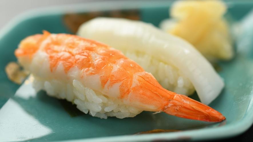 【夕食】 基本会席 料理一例 握り寿司