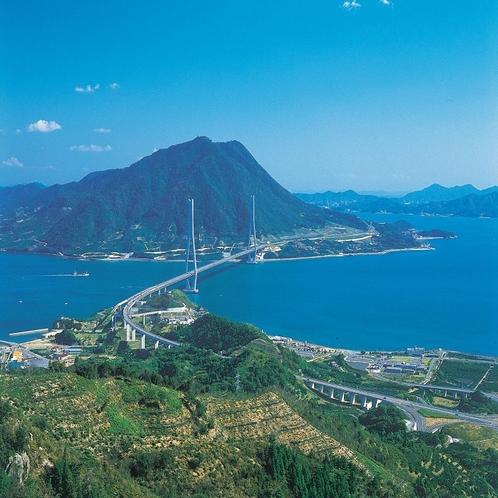 新居浜から一足伸ばして:しまなみ海道(ホテルからお車で約1時間)。サイクリングの聖地