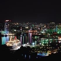 グラバー園からの夜景です。期間限定で夜間営業あります!
