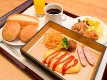 がんこ朝食(洋食プレート)盛り付け一例