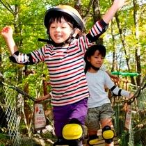 軽井沢おもちゃ王国「わくわく大冒険の森」(森の体験つり橋)