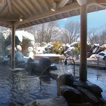 【奥軽井沢温泉】冬は雪見風呂をお楽しみいただけます