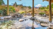 富士山を望む温泉露天風呂
