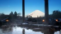 冬景色の温泉露天風呂