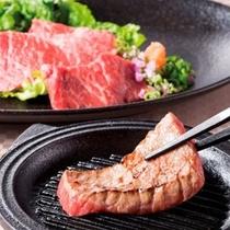 別注・静岡県産和牛の陶板焼き