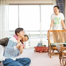 ファミリーイメージ/ご家族旅行や赤ちゃん連れファミリーなど幅広い世代に使いやすい和洋室
