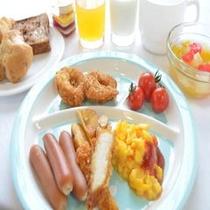 バイキングの朝食(お子様用一例)