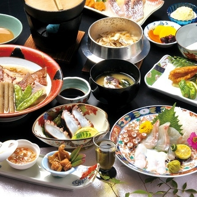 【料理自慢】 ★海の幸を堪能しよう!『魚づくし・春夏秋冬』★ 1泊2食
