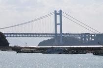 下津井港と瀬戸大橋