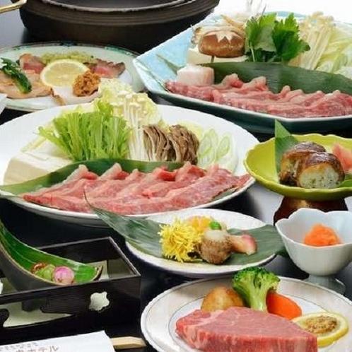 ご夕食(イメージ)米沢牛をすき焼、しゃぶしゃぶ、フィレステーキ、肉巻結でご堪能ください