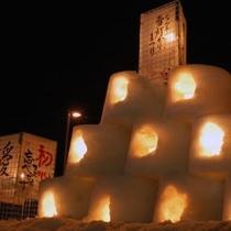 なんよう雪灯かり祭り(JR赤湯駅)