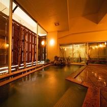 【大浴場】寺泊海岸温泉です。ナトリウム-炭酸水素塩・塩化物泉