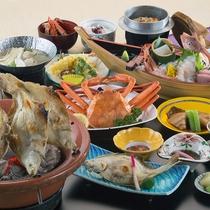 """【日本海を""""食す""""プラン】ズワイガニや浜焼きなど日本海の恵みをどうぞ。"""