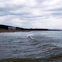 【寺泊の海】日本海の波しぶき