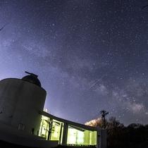 天文台「銀河」と天の川