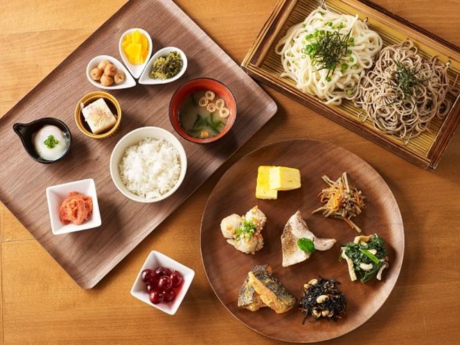 和洋食が豊富に並ぶホテル人気のブッフェ朝食をどうぞ!。※休止中