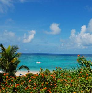 沖縄の青に溶け込む世界  ニライビーチ