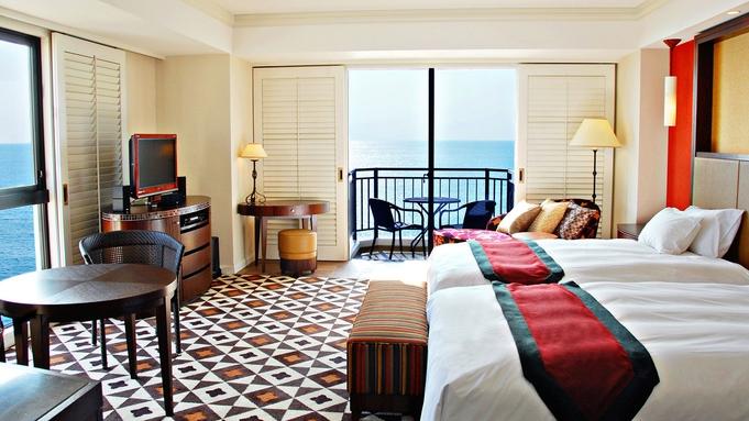 【連泊でお得 3連泊以上◆コーナーラグジュアリーツイン】海辺の白亜のホテルで暮らすようなヴァカンスを