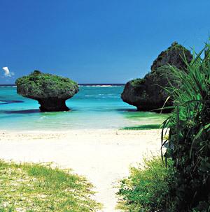 沖縄本島屈指の透明度を誇る  ニライビーチ