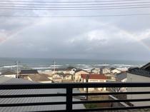 日本海にかかる虹☆客室より