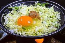 ご朝食☆自家製味噌と鳳凰卵の陶板焼き