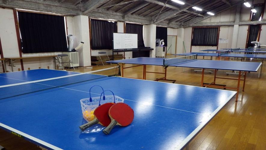 *【卓球場】広い空間で練習もしやすい♪