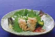 料理例:イワナ活造り