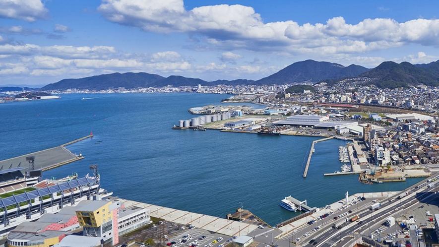 晴天の小倉市街(下関方面のイメージ)