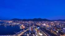 客室から北九州の夜景をお楽しみいただけます(下関方面のイメージ)