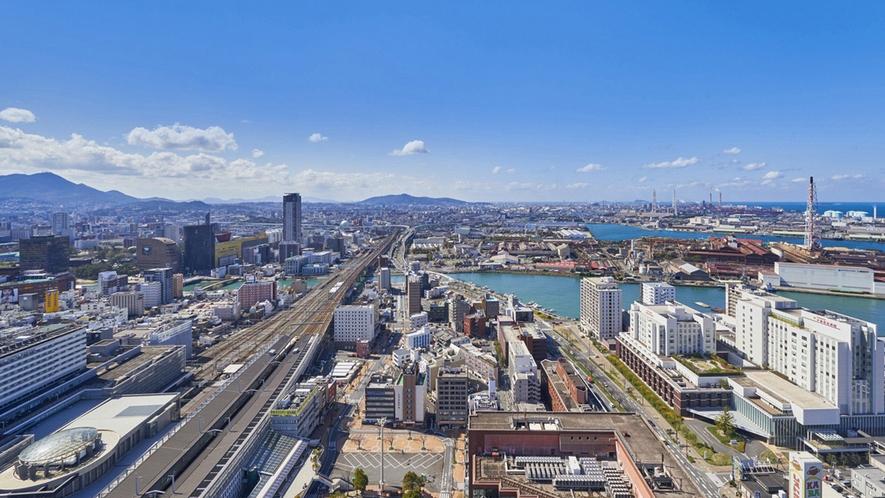 晴天の小倉市街(福岡方面のイメージ)