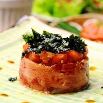 【夕食】お肉や魚を使った和洋折衷の料理が並びます。旬な食材を心をこめて料理します。_セルクル