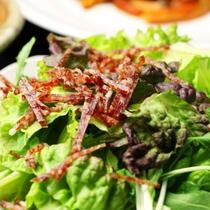 【夕食】自家菜園の野菜を使ったサラダ