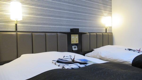 【禁煙室】ツイン    ベッド幅100cm!Wi-Fi無料♪