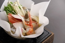 かにすき鍋(横)
