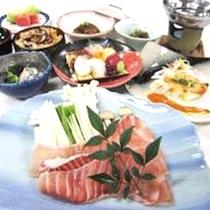 地元食材をふんだんに取り入れた和洋会席(写真はイメージです)