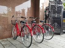 貸し出し用自転車4台あります