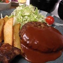 夕食定食メニュー【ハンバーグ定食】