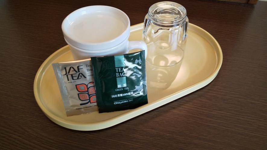 緑茶と紅茶でティータイム