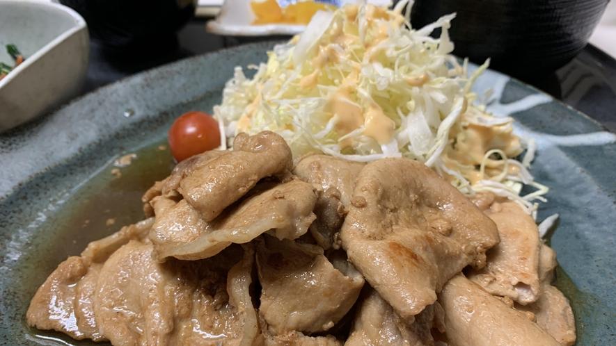 【夕食定食】豚の生姜焼き定食