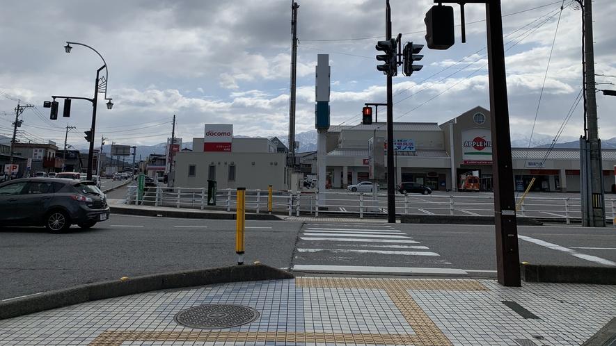 【ホテルルートインまでの道順】目の前にドコモショップが見えてきたら右折して下さい!