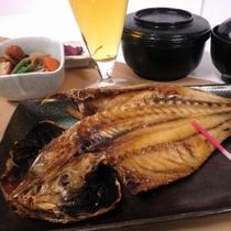 夕食定食メニュー【アジ開き定食】
