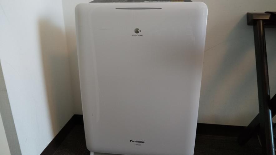 全客室に空気清浄器を完備しております