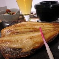 夕食定食メニュー【ホッケ開き定食】