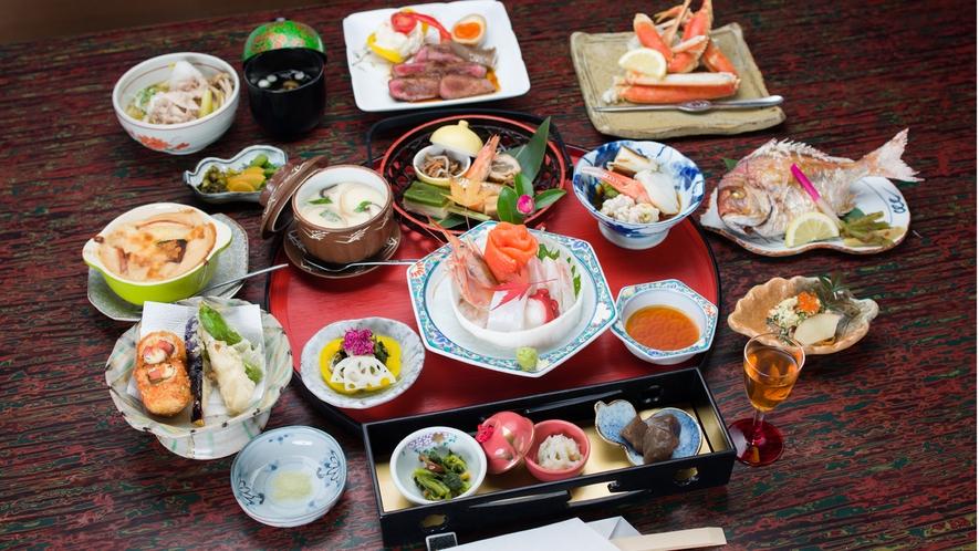 *夕食一例/四季折々の素材を中心に、趣向をこらした旬の味をぜひご賞味ください。